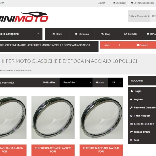 E-Commerce Pirinimoto.it